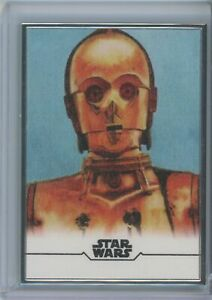 C-3PO 2020 TOPPS STAR WARS STELLAR SIGNATURES REPRODUCTION SKETCH #/100 #5