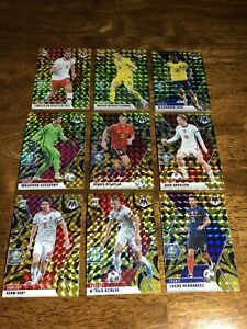 ⚽️2021 Mosaic UEFA Euro 2020 Soccer RARE Mega GOLD Fluorescent Lot Grealish Card