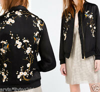 Women Embroidery Floral Jacket Embroidered Coat Baseball Fashion New