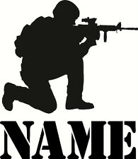 personalised soldier army military, large Wall Vinyl decal sticker wall sticker