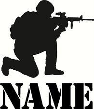 Personalizzata soldato esercito militari, grandi Muro in Vinile Decalcomania Autoadesivo Adesivo Muro