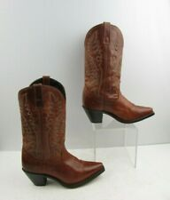 Ladies Laredo Brown Leather Pointed Toe Western Cowgirl Boots Size: 7 M