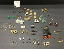 Vintage Earring Lot 30+ Clip Pierced Some Modern Pearl Rhinestone Enamel Crafts