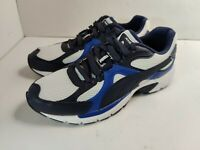 Mens Puma Axis Plus 90s Trainers Sneakers Blue and White Size 8.5 370287-04