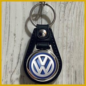 Single Sided Leather Keychain Volkswagen VW Das Auto