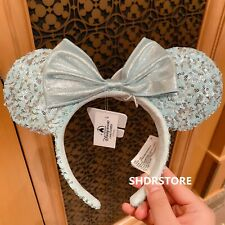 Authentic Arendelle Aqua frozen elsa Minnie mouse ear Headband Disneyland Disney