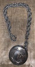 Round 2 Hearts Mirror Compact Silvertone Necklace