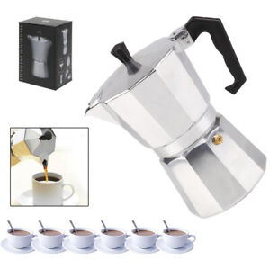 Italian Espresso Maker 6 Cup Italian Stove Top Coffee Percolator Moka Pot