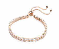 Rose Gold CZ  Double Row Tennis Bracelet