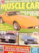 Muscle Car Magazine '79 Trans Am '77 Vettes 1989 020418nonrh