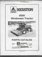 Original Hesston Model 8550 Windrower Tractor Operators Manual Form # 700718812B