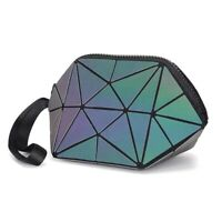 2020 Hot Holographic Geometric Luminous Purses Foldable Makeup Bag (Luminous)