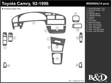 TOYOTA CAMRY 1992 1993 1994 1995 1996 DASH TRIM KIT a
