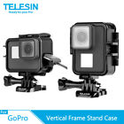 TELESIN Horizontal  Vertical Frame Housing Stand Case For Gopro Hero 7 6 5