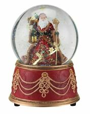 "Santa w/ Snowflakes Musical~We Wish You a Merry Christmas~Snow Globe ~5.5"" 100mm"