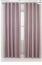 Lilac Metallic Light Reducing Blackout Thermal Lined Ring Top Curtains 46x72""