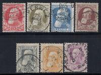 Belgique 1905 Mi. 71-77 Oblitéré 60% Années d'indépendance, Roi Léopold II