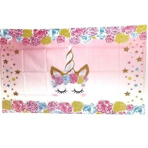 Unicorn Tapestry Hippie-Wall Hanging-Watercolor-Rainbow-Lashes Magic 3x5ft!
