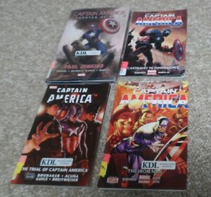 4 Captain America Graphic Novels. Theater of War, Trial, Iron Nail & Castaway