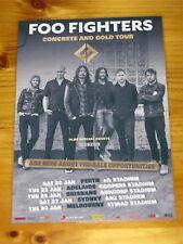 FOO FIGHTERS - 2018 AUSTRALIA TOUR ORIGINAL LTD RELEASE -  Laminated Tour Poster