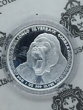 2015 Congo Lunar Year of the Goat Wealthy 1Oz Silver Proof Color Coin 240 Francs
