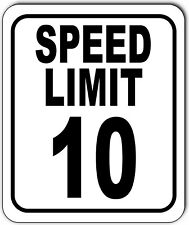 Speed Limit 10 Mph Outdoor Metal Sign Slow Warning Traffic Road Street
