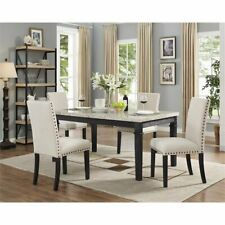 5 Piece Milan Faux Marble Dining Set Dining Room Ideas