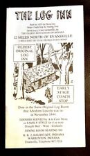 "Fun 8.5"" Pamphlet ""The Log Inn""  Evansville IN"