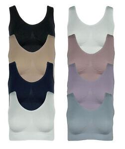 4er Pack Damen BH seamless Bustier Top Shirt BH