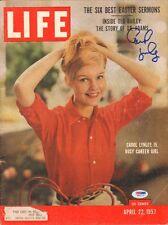 CAROL LYNLEY SIGNED AUTO'D APRIL 22 1957 LIFE MAGAZINE PSA/DNA COA THE CARDINAL