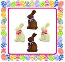 Jesse James Buttons ~ Dress It Up ~ EASTER - Chocolate Bunnies White Chocolate