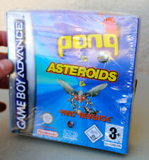 Jeux PONG & ASTEROIDS & YARS REVENGE sur Nintendo Game Boy Advance GBA NEUF