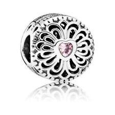 Original Pandora Amuleto Amor Y Amistad 925 Esterlina Plata Rosa 791955PCZ