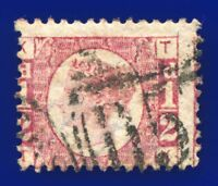 1874 SG49 ½d Rose Plate 12 MISPERF TK Bute Docks D57 Good Used CV £28 aojl