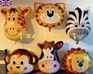 "32"" Giant Safari Jungle Animal Head Foil Balloon Kids Inflatable Toy Theme Party"