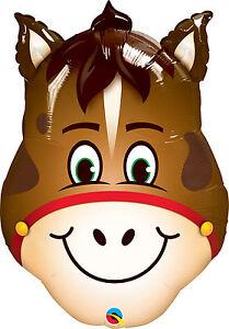 """HORSE BALLOON 32"""" HORSE'S HEAD QUALATEX HILARIOUS HORSE FOIL BALLOON"""