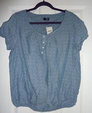 Waist Length Blouse Geometric Casual Tops & Shirts for Women