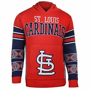 FOCO KLEW MLB Men's St. Louis Cardinals Big Logo Hooded Sweater, Red