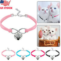 Pet Cat Dog Cute Collar Puppy Necklace Small Heart Pendant For Kitten Chihuahua