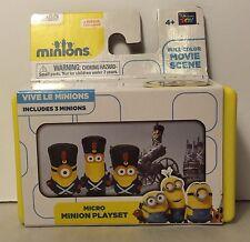 Micro Minion Playset VIVE LE MINIONS New Gift Stocking Stuffer