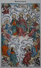 Jesus Christus und die Zwölf Apostel - Schedel 1493 - Salvator Mundi