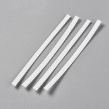 100 USA Flexible PE Plastic Wires Bendable Double Cores Twist Ties White 100x5mm