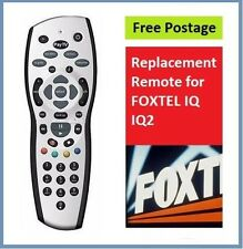 New in box Foxtel Remote Replacement for the Foxtel IQ Remote Control *Silver*