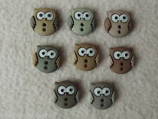 Robe it up boutons ~ coudre Cute Owls ~ 8 CHOUETTES ~ diverses teintes