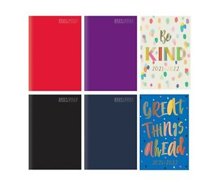 2021-2022 A5 Academic Diary Week to View HB Case bound Mid Year Student Diary