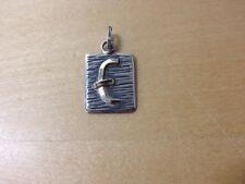 """New Gold and silver pendant  Colgante de oro y plata - Letra Letter """" E """"  Nuevo"""