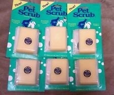 Bark Pet Scrub 6 pack pet wash and toss brush w/shampoo for dogs