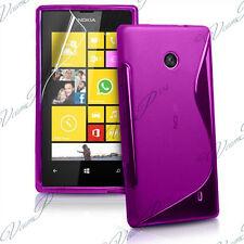 ACCESSOIRES HOUSSE ETUI COQUE SILICONE GEL TPU S FILM VIOLET Nokia Lumia 520