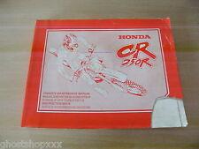 00X69-KZ3-6100 69KZ3610 Manual De Taller Honda CR250R S 95