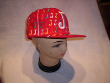 Gangsta Baseball cap J Mainly RED with Different color J's 59 CM 7 3/8 FITTED